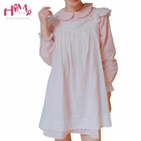 Autumn Winter Japanese Sweet And Lovely Soft Girl Dress Two Piece Set Preppy Style Loose Bandage