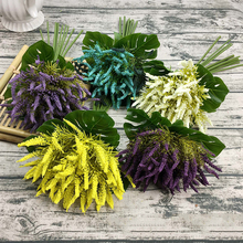 Xuanxiaotong Magnolia Grass Foam Artificial Flowers Bouquet for Home Decor Wedding Decor Lavender Handing Bouquet candino c4487 4