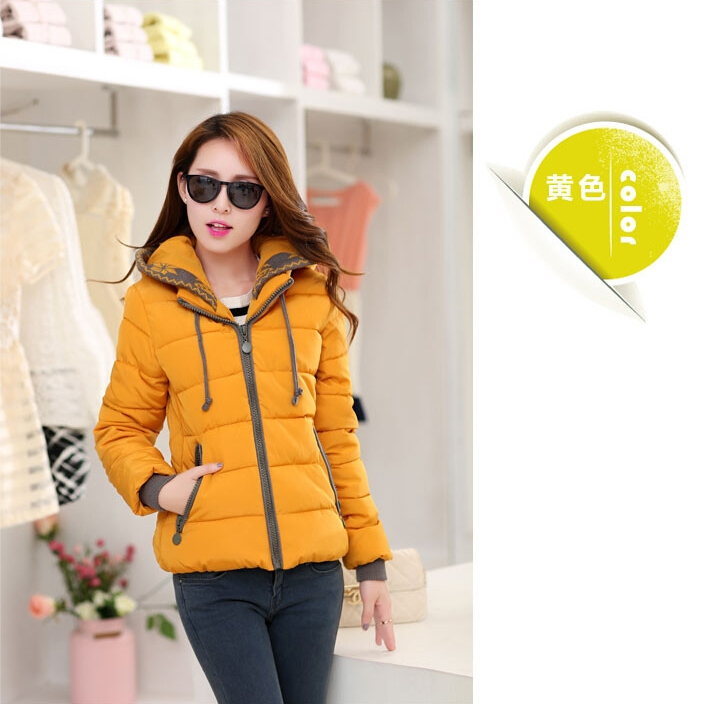 2016 New Fashion Women Winter Down jacket  Big yards Thickening Super Warm Coats Hooded Jacket Splicing Slim Women Coat G1558