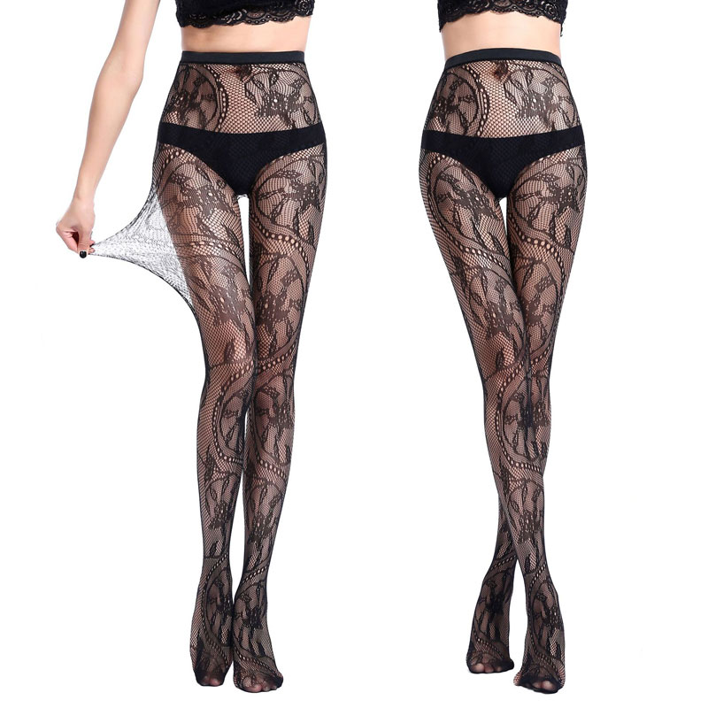 New Style Women Dragon Pattern Sexy Stockings Hollow Fishnet Stockings High Elastic Pantyhose Sexy Lingerie Underwear Tight