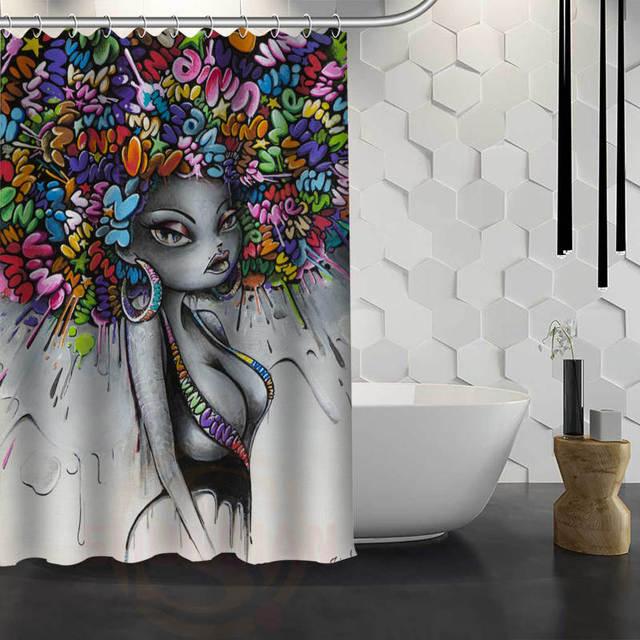 New Vinie Graffiti Custom Shower Curtain Waterproof Fabric Bath Curtain For  Bathroom WJY1.17