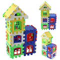 24pcs Baby House Building Blocks Construction Toy Kids Brain Game Learning Educational Toys For Children