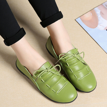 hot deal buy women casual shoes black white fashionable womens shoes pu leather flats shoes female spring autumn anti-slip vintage shoes