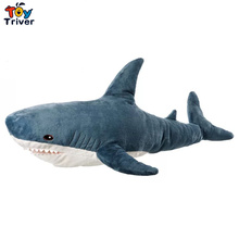 Ins Hot Plush Toy Reallife Giant Hammerhead Blue Shark Stuffed Ocean Animal Baby Children Kids Adult Birthday Gift Home Decor