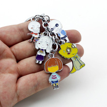 Keychain Undertale Cosplay-Accessories Anime Fashion Game Metal for Bag with Pendant