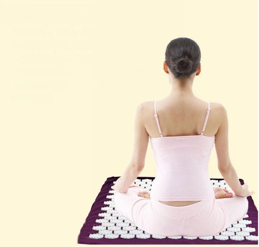 Massage Mat Massager Cushion Acupressure Mat Relieve Stress Pain Acupuncture Spike Yoga Mat With Pillow Drop