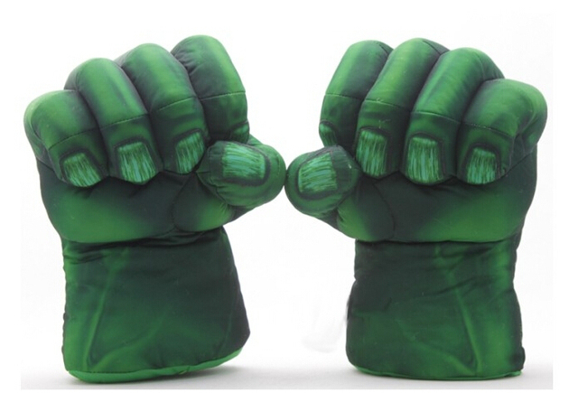 """Envío Gratis 1 Unidades El Increíble Hulk Spider-Man Guantes de Felpa 11 """"Superhero Juguetes Figuras Niños Niños de Navidad Regalos de juguetes"""