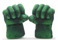 Free Shipping 1set The Incredible Hulk Spider Man Plush Gloves 11 Superhero Figure Toys Kids Children Christmas Toy Gifts