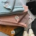 Cara de color mezclado de lana súper suave bufandas de punto para mujeres 2017 Caliente de la manera gruesa de invierno cálido chal de cachemira bufanda femenina C022