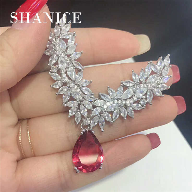 SHANICE New Arrival Luxury Authentic Big Geometric Charms Original Pendant DIY Jewelry Making Gift Micro Paved Cubic Zirconia