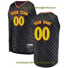 f7942d902e8 2zbrothers China OEM Factory Custom Basketball Jerseys Atlanta Black Red  for Men
