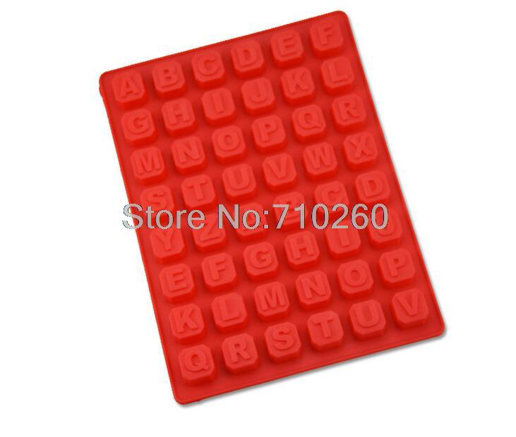k029 48 alphabet number fondant molds christmas forma de silicone mold letter cake decorating tools