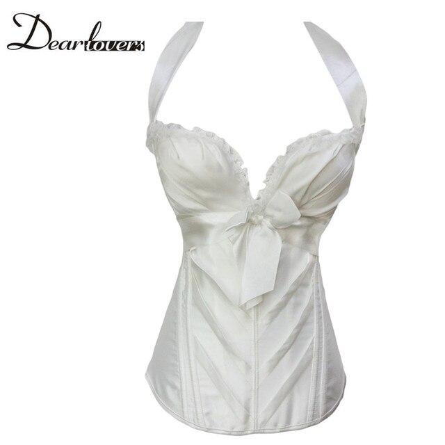 Dear lover Corsets Elegant Black /Bridal White Sweetheart Halter gothic Corset  plus size lingerie corselet top LC5360