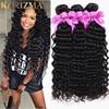 10A Brazilian Virgin Hair Deep Wave Human Hair Weave 3 Bundles Brazilian Curly Virgin Hair Deep Curly Weave Brazillian Deep Wave