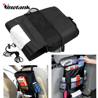 Vingtank Car Seat Back Warmer And Cooler Organizer Bag With Tissue Box Drinks Holder Car Seat