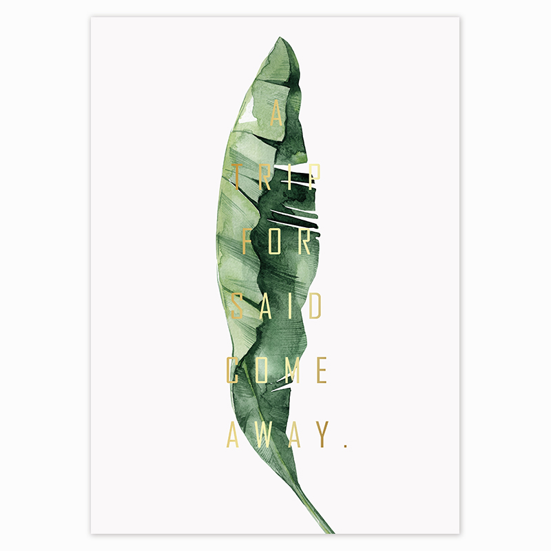 HTB12Me0dl1D3KVjSZFyq6zuFpXaa Scandinavian Style Tropical Plants Poster Green Leaves Decorative Picture Modern Wall Art Paintings for Living Room Home Decor