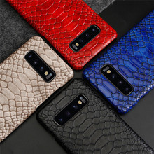 Luxury Crocodile Snake Pattern PU Leathe Case For Samsung S9 S10 Plus Note 8 9 S10E Coque For iPhone 6 6S 7 8 Plus X XS Max XR multifunction woven pattern zipper wallet case for samsung note 10 8 9 s8 s9 s10 plus s10e for iphone xs max xr x 6 6s 7 8 plus