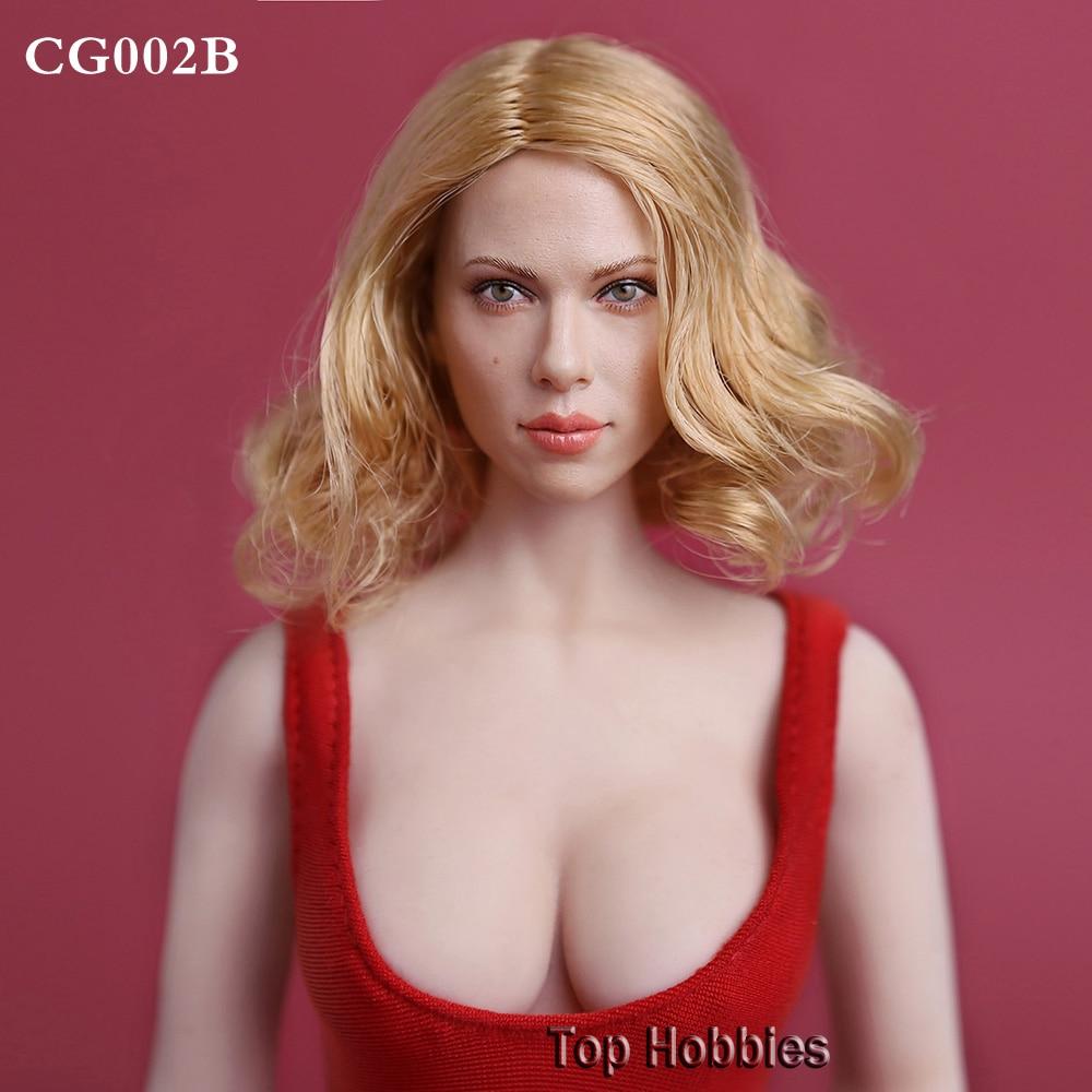 1:6 Sca Черная Вдова Скарлетт Йоханссон глава лепить блондинка/золотые волосы GC002B женская модель F 12 дюймов Phicen фигурку