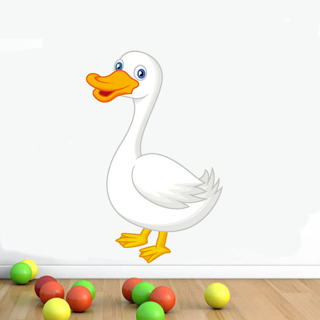 Duck Wall Sticker Baby Nursery Duck Mother Wall Art DIY Animal Vinyl ...