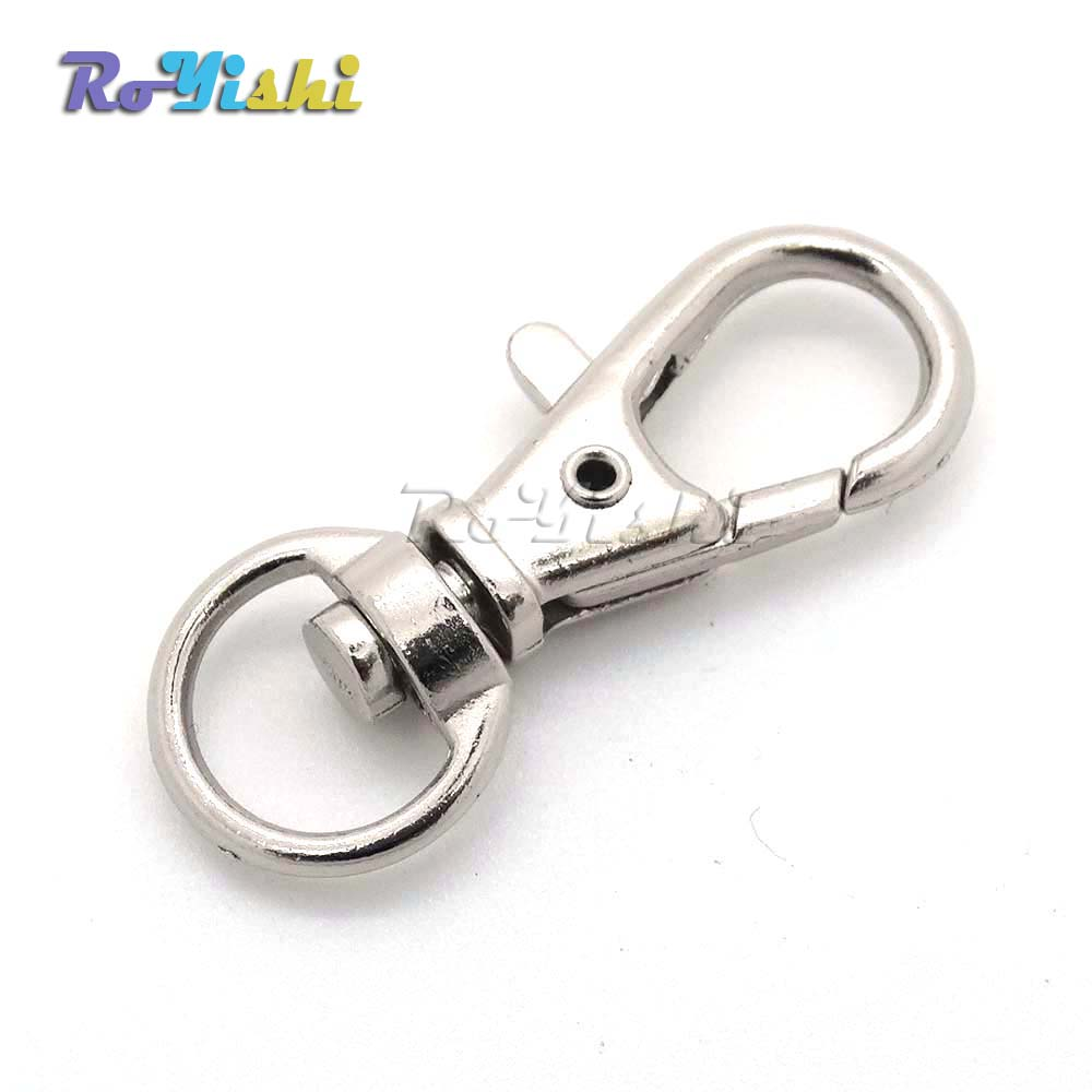 1000pcs/pack Matel Snap Hooks Rotary Swivel For Backpack Webbing 8.9mm Nickel Plated Lobster Clasps1000pcs/pack Matel Snap Hooks Rotary Swivel For Backpack Webbing 8.9mm Nickel Plated Lobster Clasps