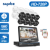 SANNCE 8CH Security Camera System 1080N DVR Reorder With 1TB Hard Drive And 8 HD 1280TVL