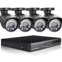 DEFEWAY 1080N HDMI DVR 1200TVL 720 P HD Открытый Дом, Камеры Безопасности Системы 4CH Видеонаблюдения DVR AHD CCTV Kit seguridad