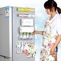 Rack frigorífico 4 pcs ventosa gancho prateleira multifuncional espaço organizador titular gancho rack de armazenamento condimento garrafas de cozinha
