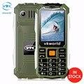 Оригинал VKworld Камень V3S Мобильный Телефон 2.4 дюймов Dual SIM Слот Bluetooth Водонепроницаемый 21 Ключи 2200 мАч FM Сотовый Телефон