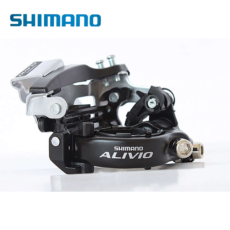 SHIMANO Alivio FD-M412 Triple & 7/8 Speed Drivetrains Mountain Bike Bicycle Parts Cycling Front Derailleur 31.8/34.9mm Top Swing clocks and colours nomad