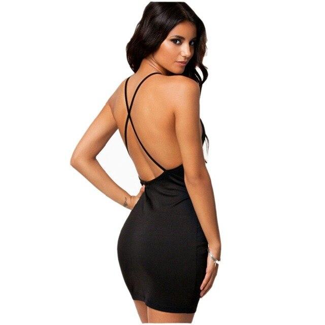 f691fd54b748 Europeo di stile discoteca sexy croce harness vestiti dalle donne di colore  puro Sottile del corpo