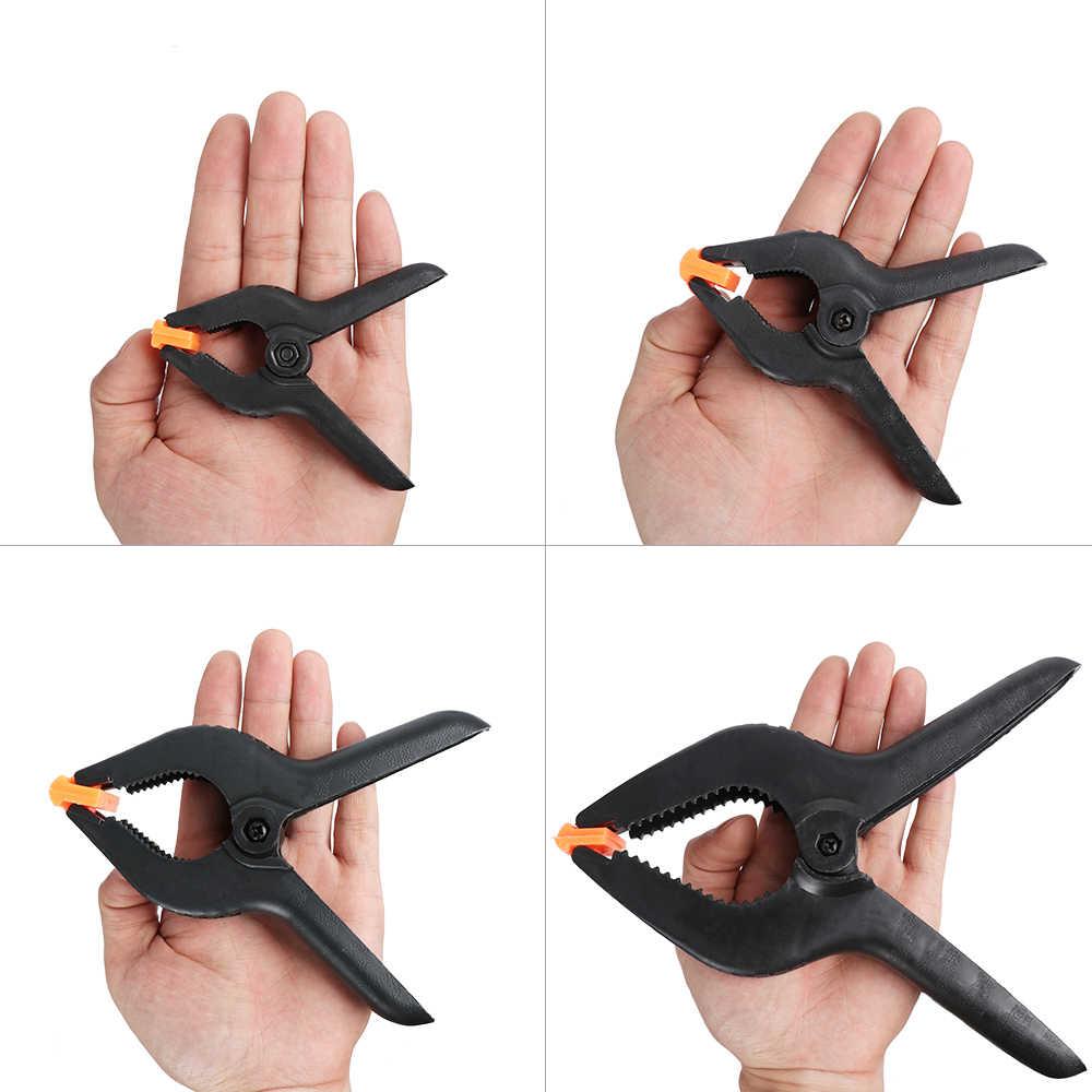 """1 шт. различные 3 """"4"""" 6 """"9"""" дюймов для работы по дереву пружинный зажим шарнирный зажим DIY инструменты пластик нейлон для фотостудии зажим для фона"""
