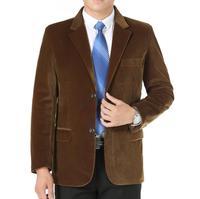 male corduroy suits outerwear spring autumn casual suit mens quinquagenarian single men blazer slim fit masculino khaki black