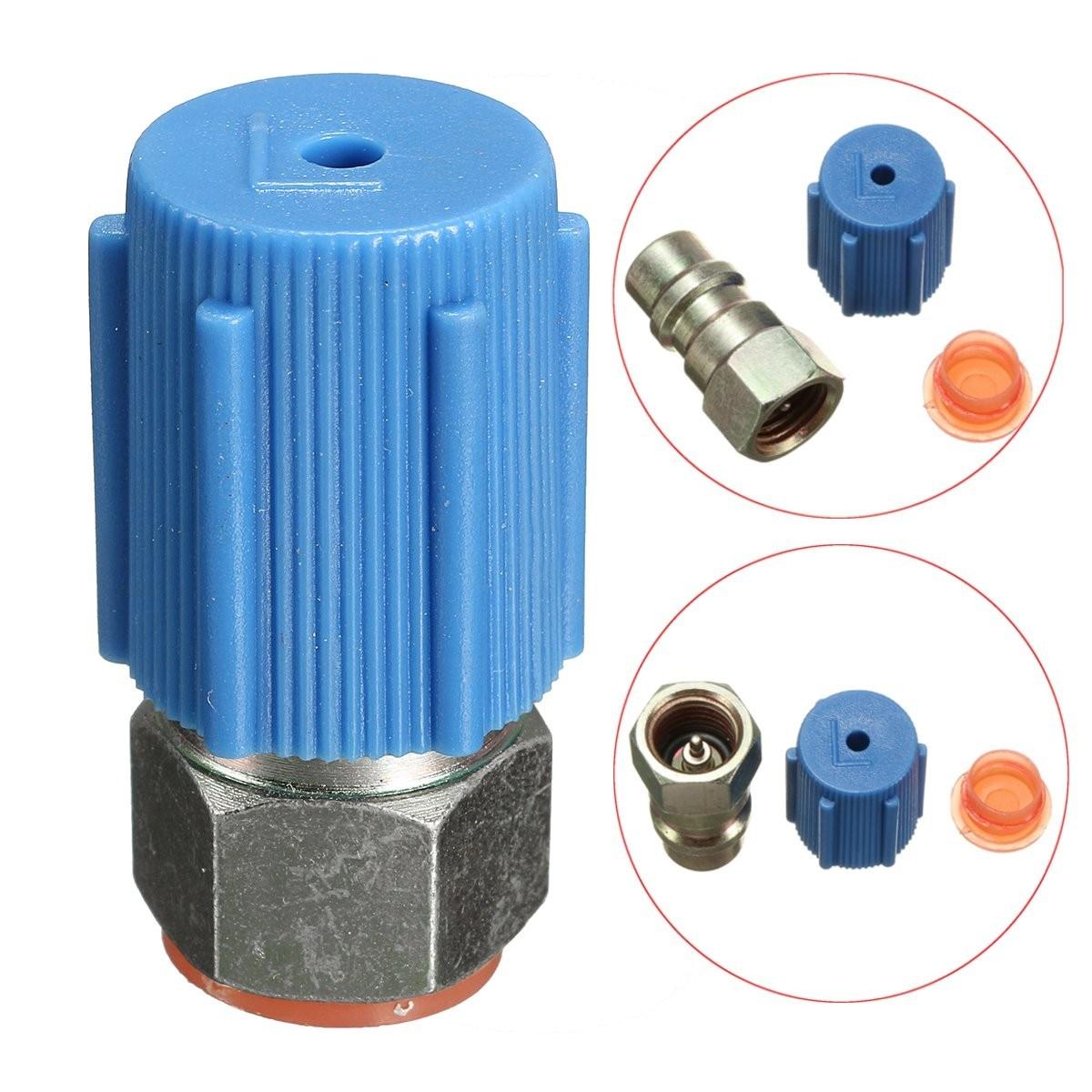 A//C Charging Port Adapter Retrofit R12 Port  to Accept R134a /'Quick Disconnect/'