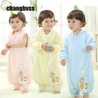 Saco de dormir de algodón para bebés Saco de dormir para bebés Otoño Invierno mantas para niños Saco de dormir
