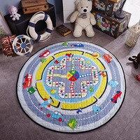 1.5 m תיק שיכון מהיר cartton תינוק זוחל pad מחצלת משחק משחק ילדים, בייבי כושר mat, הילדים לפתח צעצועי שטיחים שקית אחסון