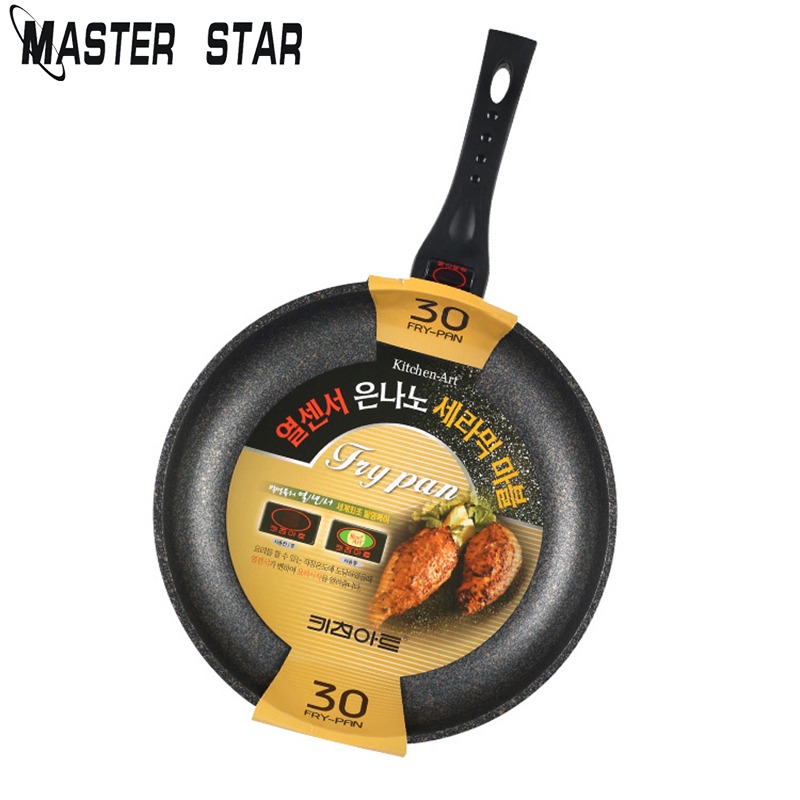 Master Star 20/24/26/28/30cm Aluminum Alloy Frying Pans Health Kitchen Cookware Use Gas Cooker Non-stick Pans