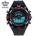 Sport Watch For Teenage Gift Present SMAEL 2017 Dult Life Waterproof Sports Leisure Dual Display Outdoor 50m Waterproof 1352