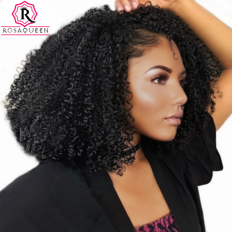 3B 3C Kinky Curly Clip In Human Hair Extensions Full Head Sets 100% Human Natural Hair Clip Ins Rosa Queen Brazilian Remy Hair