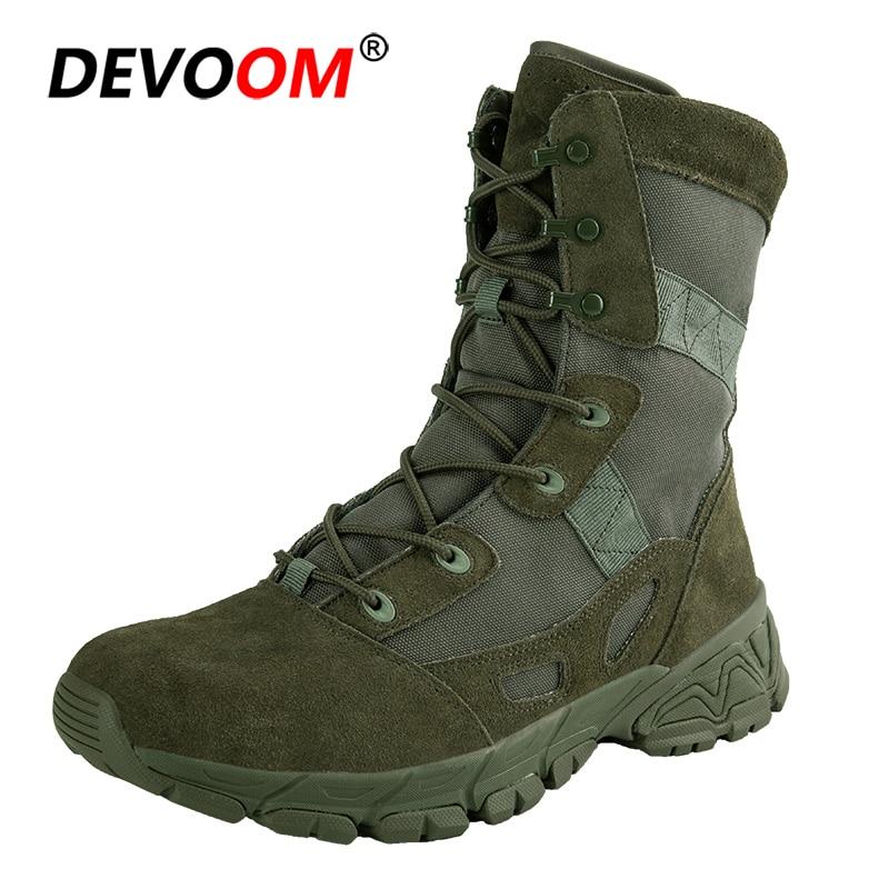 2018 automne soldat armée bottes PUBG Trekking randonnée chaussures hommes tactiques bottes pour homme toile qualité daim bottes grande taille 45