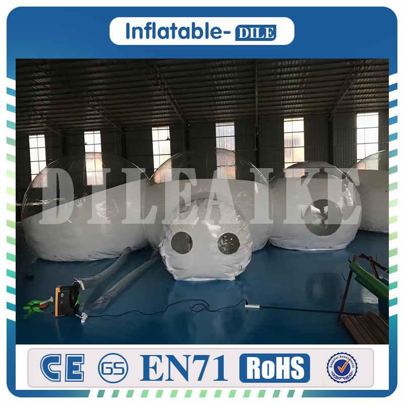 Translucent Roof topped Inflatable Bubble Huts Bubble Igloo Hotels