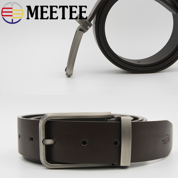 Meetee High quality 35mm Men 39 s Metal Belt Buckle Pin Clip Cowboy Jeans Head for 33 34mm DIY LeatherCraft Supply AP2763 in Buckles amp Hooks from Home amp Garden