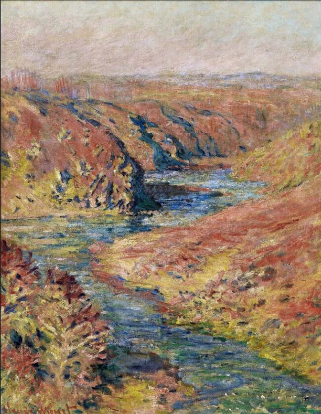 High quality Oil painting Canvas Reproductions The Valley of Creuse at Fresselines (1889) By Claude Monet hand paintedHigh quality Oil painting Canvas Reproductions The Valley of Creuse at Fresselines (1889) By Claude Monet hand painted
