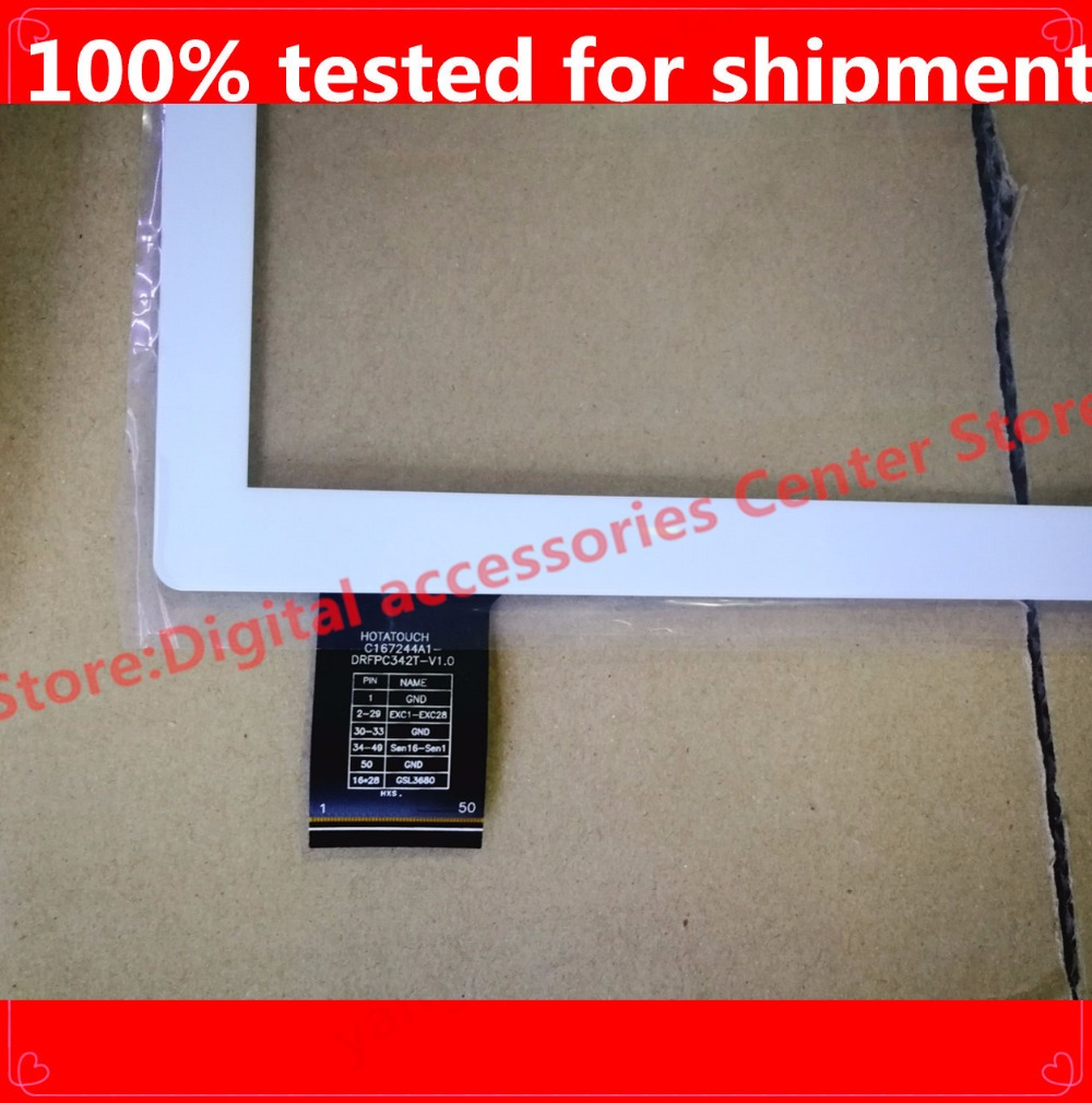 HZ New 10.1 INCH  Touch Screen Touch Panel Digitizer Glass Sensor Replacement C167244A1-DRFPC342T-V1.0