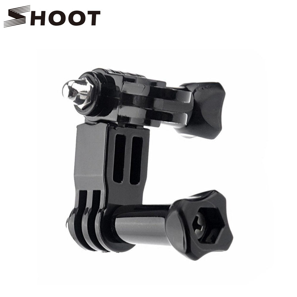 SHOOT Three Way Adjustable Helmet Clamp Pivot Arm Mount for GoPro Hero 5 4 3 Xiaomi Yi 4K SJCAM SJ4000 SJ5000 Go Pro Accessory gopro accessories head belt strap mount adjustable elastic for gopro hero 4 3 2 1 sjcam xiaomi yi camera vp202 free shipping
