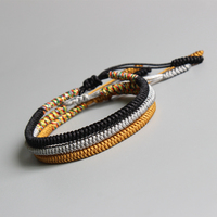 Eastisan Tibetan Buddhist Braided Lucky Knots Bracelet For Man Women Handmade Rope Bracelets Size Adjustable Wholesale