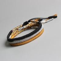 Eastisan Tibetan Buddhist Braided Lucky Knots Bracelet For Man Women Handmade Rope Bracelets Size Adjustable Wholesale