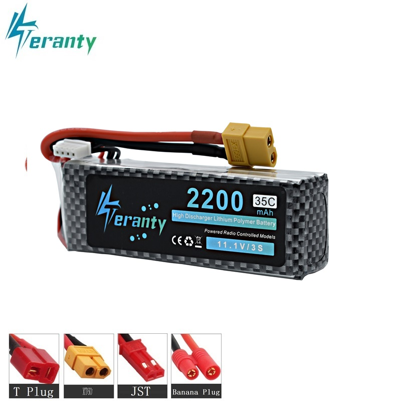 Teranty 3S 2200mAh 35C 11.1v LiPo Battery For RC Car Airplane Helicopter High Power 11.1v Battery 3s battery XT60/T/JST/EC5 Plug image