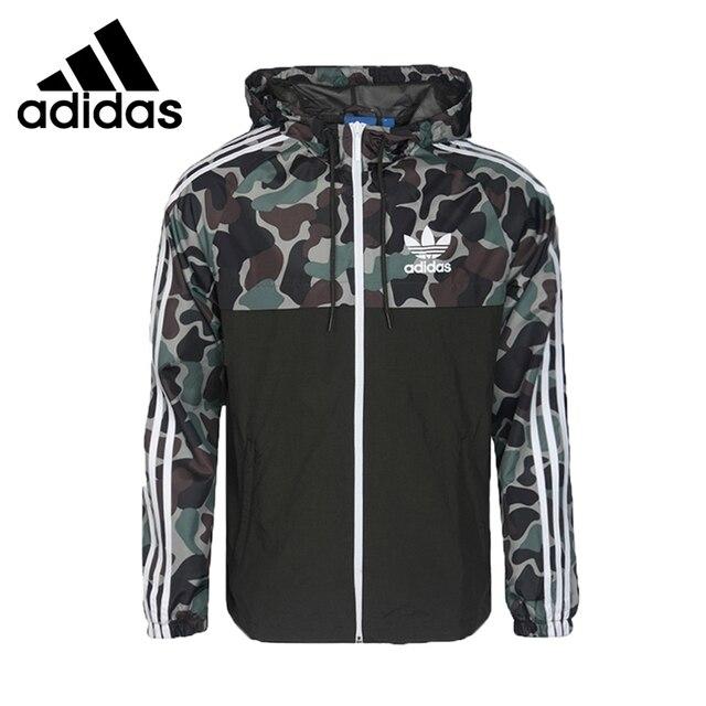 eb8ad8b7be Nova Chegada Original Adidas Originals jaqueta Com Capuz Sportswear dos  homens CAMO REV WB