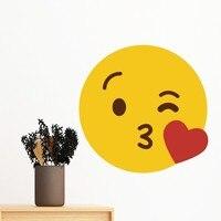 60cm Adore Fever Blink Smile Online Chat Emoji Illustration Removable Wall Sticker Art Decals Mural Wallpaper