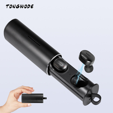 TONGWODE T1 Mini Sports Earphone Wireless Earbuds  Bluetooth 5.0 Dual Connection Mode Headset with Stereo Mic Charging Box